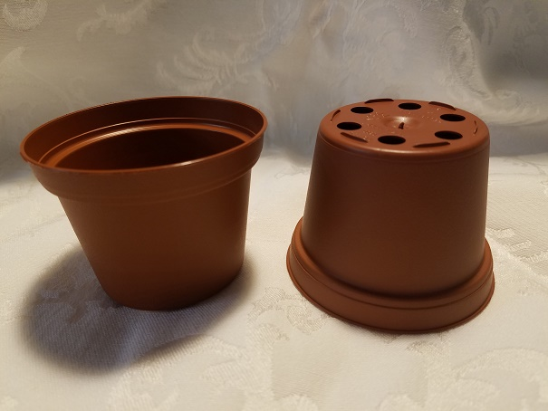 "3"" Plastic Terracotta Pot"