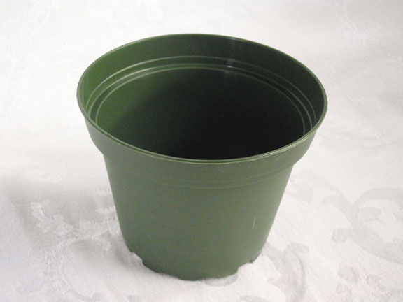 "4"" Plastic Green Pot"