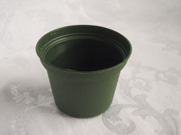 "3"" Plastic Green Tub Pot"
